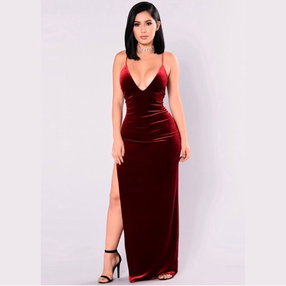 ad4416b28979b1 Fashion Nova Dresses | Galant Velvet Dress | Poshmark